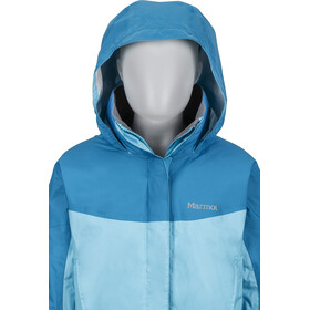 Marmot PreCip Jacket Girls Light Auqa/Aqua Blue